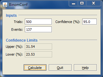 Image of binomial confidence interval calculator