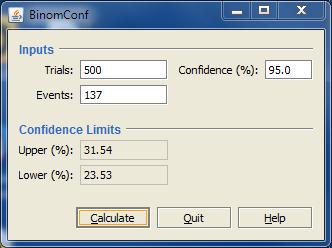 Image of binomial confidence interval calculator