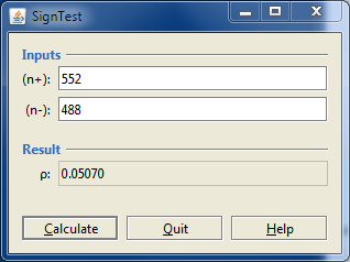 A Screenshot of the SignTest Program