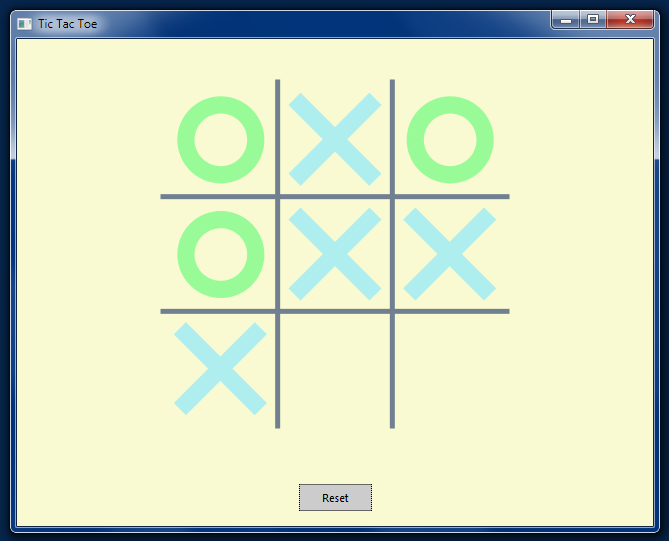 An In-Progress Tic-Tac-Toe Game