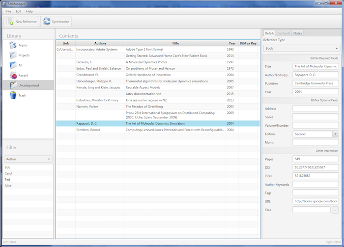 Image of the document manager main screen