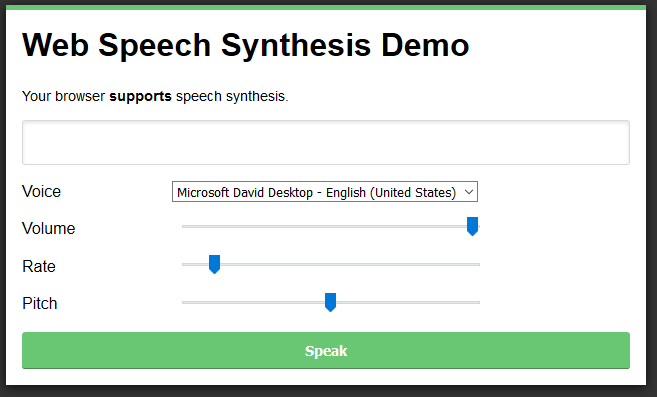 Speech Synthesis UI Clip