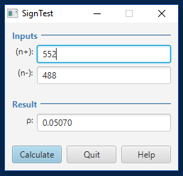 A New Version of the Sign Test Program